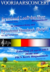 Affiche Voorjaarsconcert Bitgummole 2013